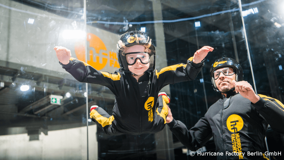 Hurricane Factory – Fliegen im Windtunnel