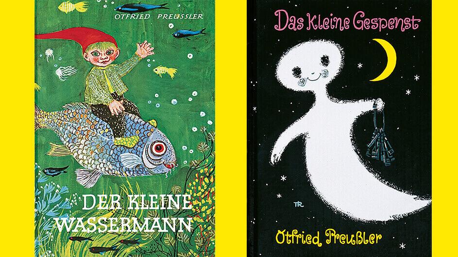 """Buchcover der Kinderbücher """"Der kleine Wassermann"""" und """"Das kleine Gespenst"""" von Ofried Preußler"""
